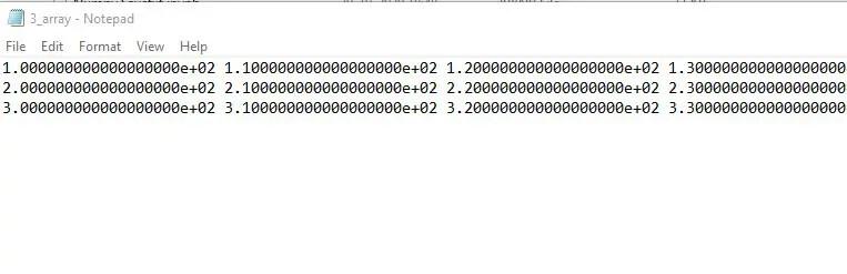 Saving Three Numpy Array to text file