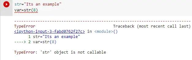 Typeerror str object is not callable example