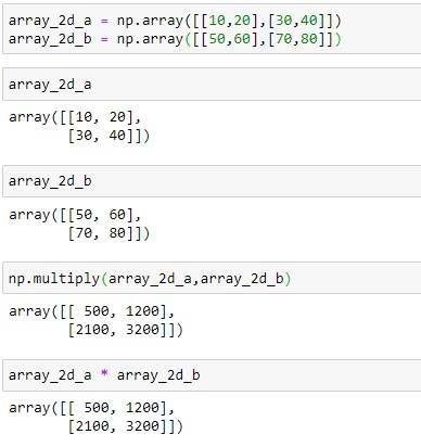 Element wise array multiplication of 2 D Array