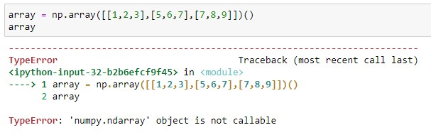 Error During Creation of a Simple Array