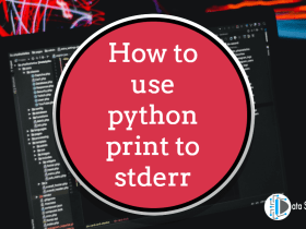 How to use python print to stderr