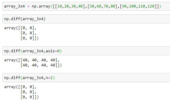 NumPy difference of 2D Array
