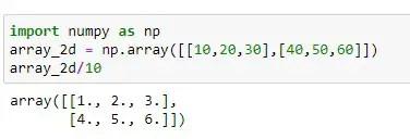 2D Division using divisive operator