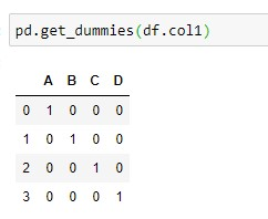 Finding Dummy Variables For a Single Column