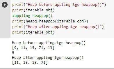 python heapq heappop()