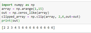Clipping array and outputting the results to another array