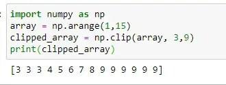 Simple Use of Numpy clip method