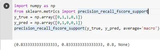 calculate precision and recall sklearn