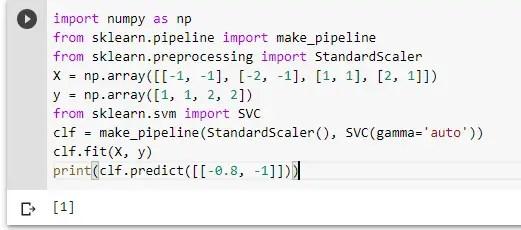 SVM Classifier sklearn Implemenation