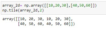 repeating array over columns for 2d array