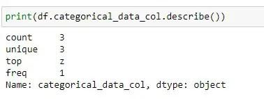 Finding Statistics on Categorical Column