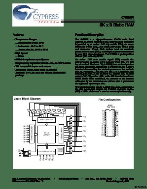 CY6264 DATASHEET PDF