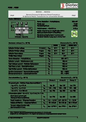 Bc557 Datasheet Pdf Diotec Semiconductor Germany