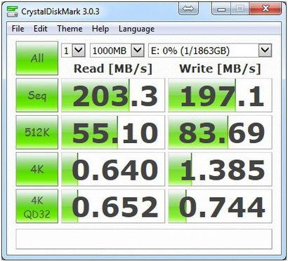 CristalMark-Seagate 2TB 5-1000 USB3.0
