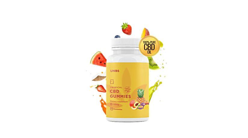 UNBS Tropical CBD Gummies dosage