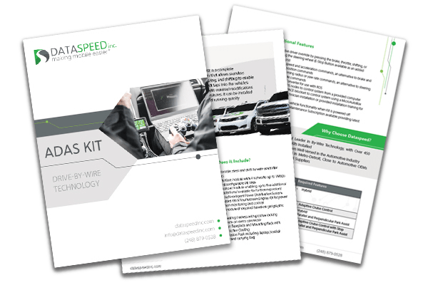 The ADAS Kit, An Autonomous Vehicle By-Wire Solution