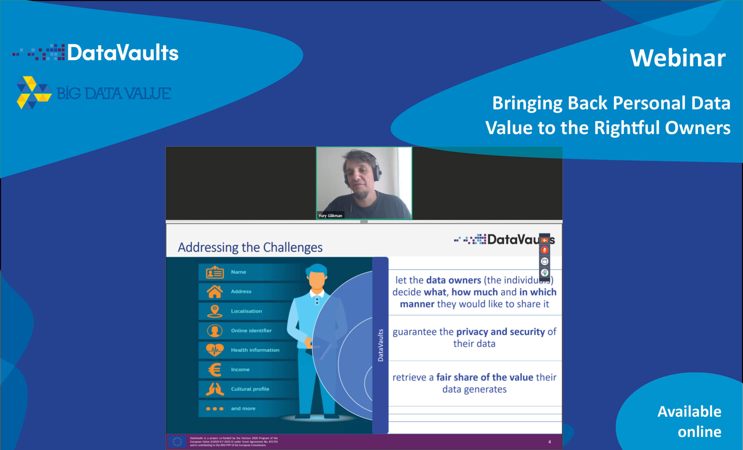datavaults webinar @bdve available online