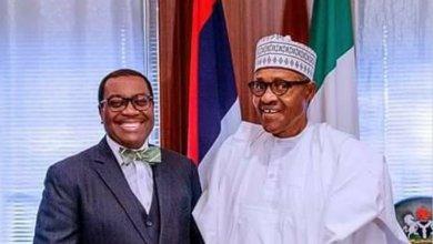 Photo of Buhari congratulates AfDB President Akinwunmi Adesina on reelection