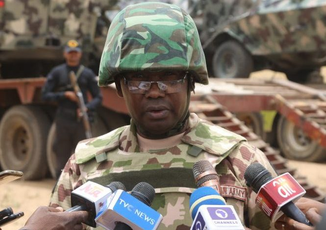 Acting Director Army Public Relations Col. Sagir Musa