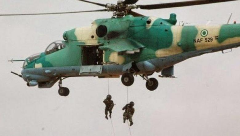 Air force attacks terrorist hideouts
