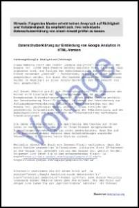 Google Analytics einbinden I Datenschutz 2018