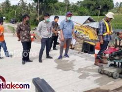 BPK Sumbar Ambil Sampel Bangunan Jembatan Kayugadang