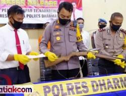 Kasus Narkoba Meningkat di Dharmasraya, yang Lain Turun