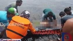 Nelayan Mentawai bernama Retta ditemukan meninggal setelah seharian terombang-ambing di perairan Sagulubek, Kecamatan Siberut Barat Daya. (Foto: Kantor SAR/Datiak.com)