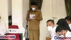 Wakil Bupati Padangpariaman, Rahmang, saat membuka sosialisasi pembinaan BUMNag di Padangpariaman, di Pandopo Bupati Padangpariaman, Rabu (28/4).