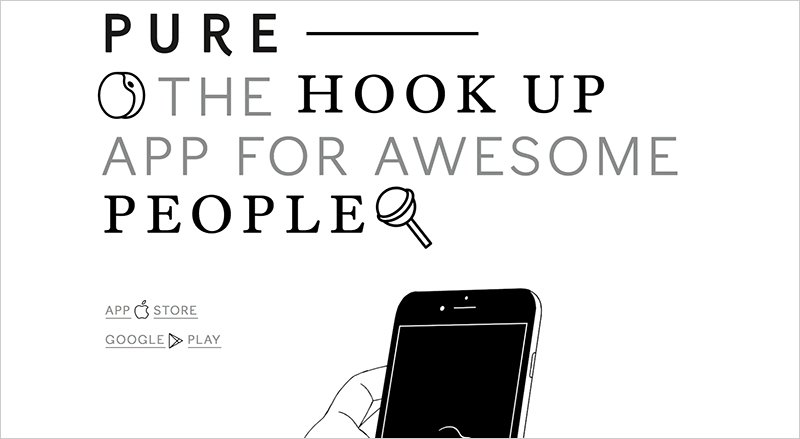 How does pure hookup app work