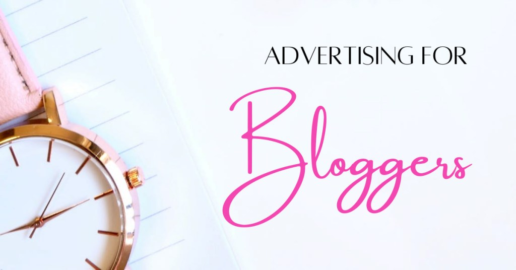 Advertising for bloggers flatlay