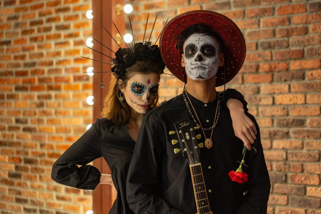 Man and woman on Halloween