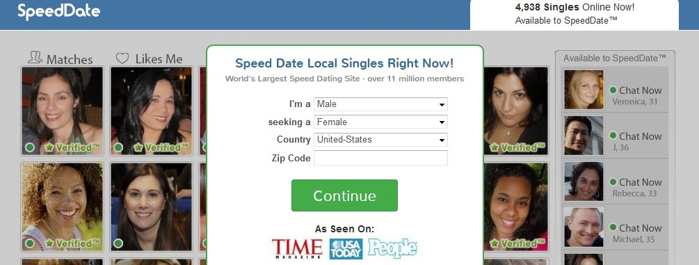 Speed date dating site review