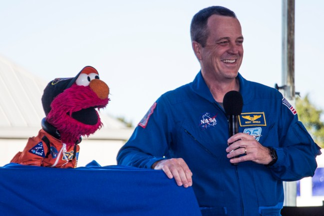 Elmo likes space.