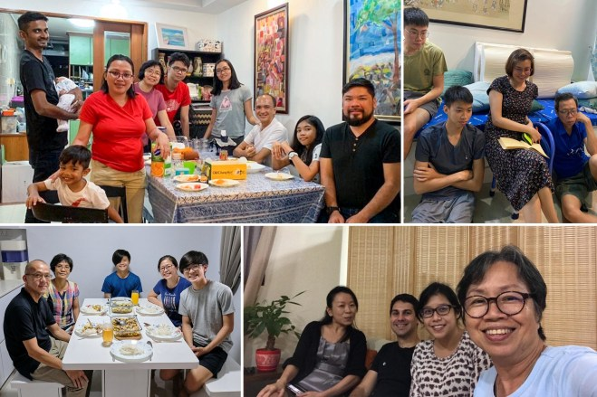 Families in Singapore mark a recent Feast in their homes before joining others online or in small gatherings while maintaining safety measures put in place by the government.