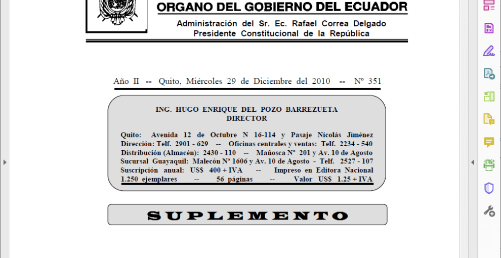 CÓDIGO ORGÁNICO DE LA PRODUCCIÓN, COMERCIO E INVERSIONES