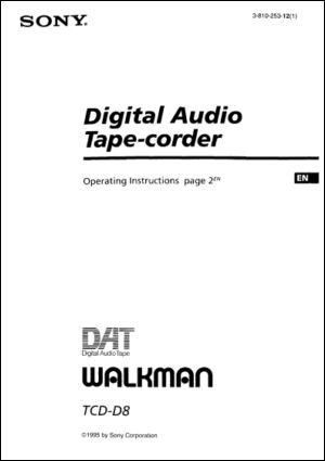 Sony TCD-D8 Portable DAT Recorder