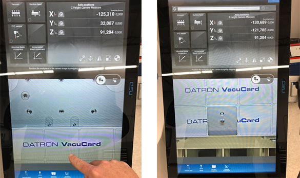 Part location is the next step in the CNC workflow for the DATRON neo high speed milling machine.