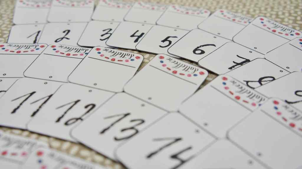 Ramadankalender mit Teebeuteln Zahlenanhänger