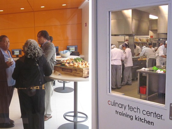 The White Plains Education and Training Center (WPETC) which operates the ground floor vocational school has the Culinary Technical Institute (CTI) as the anchor tenant catered the ribbon cutting ceremony.