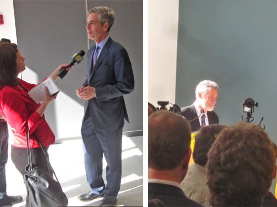 Mayor Thomas Roach, and Jonathan Rose, President of Jonathan Rose Companies