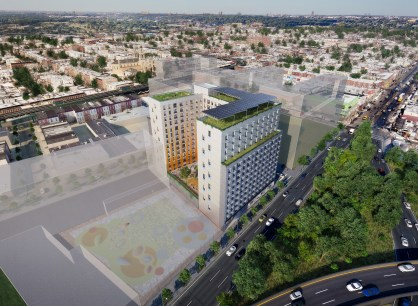 Chestnut Commons Aerial View - by Dattner Architects