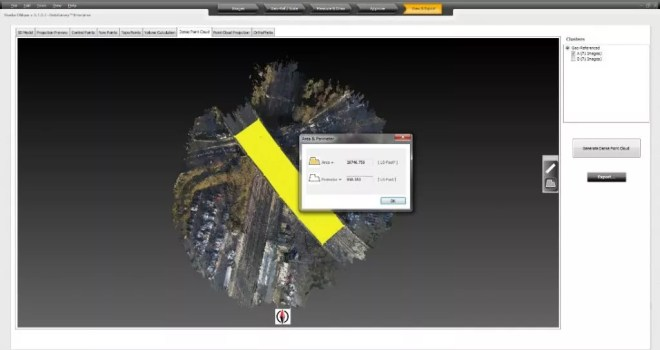 Measure Distances and Areas on Point Cloud