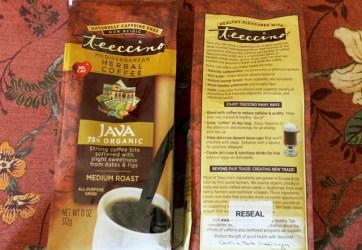 Teeccino review, Teeccino herbal coffee, herbal coffee, caffeine free coffee, cutting out caffeine, eliminating caffeine, good caffeine free drinks, drink that tastes like coffee, healthy drink