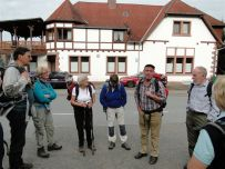 Instruktion vor der Wanderung