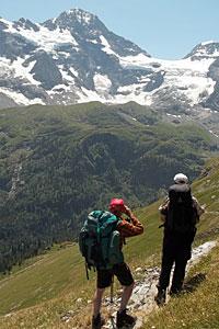 Das Breithorn in Sicht