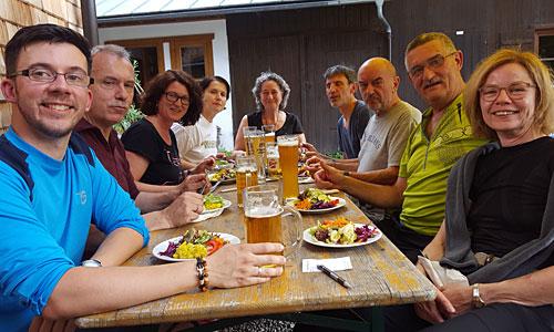 Abendessen im Hans-Berger-Haus