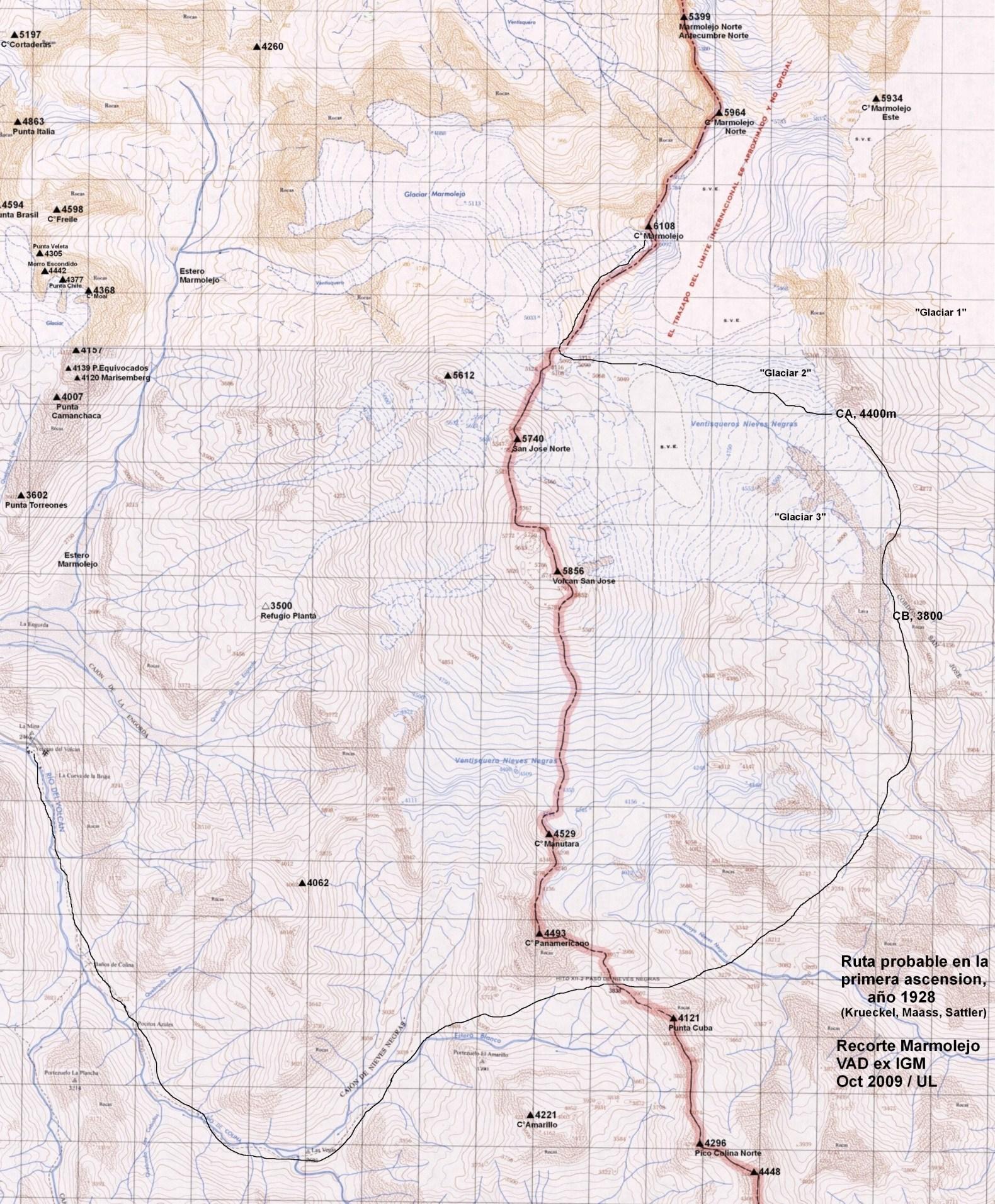 Primera Ascensión del Cerro Marmolejo (1928)