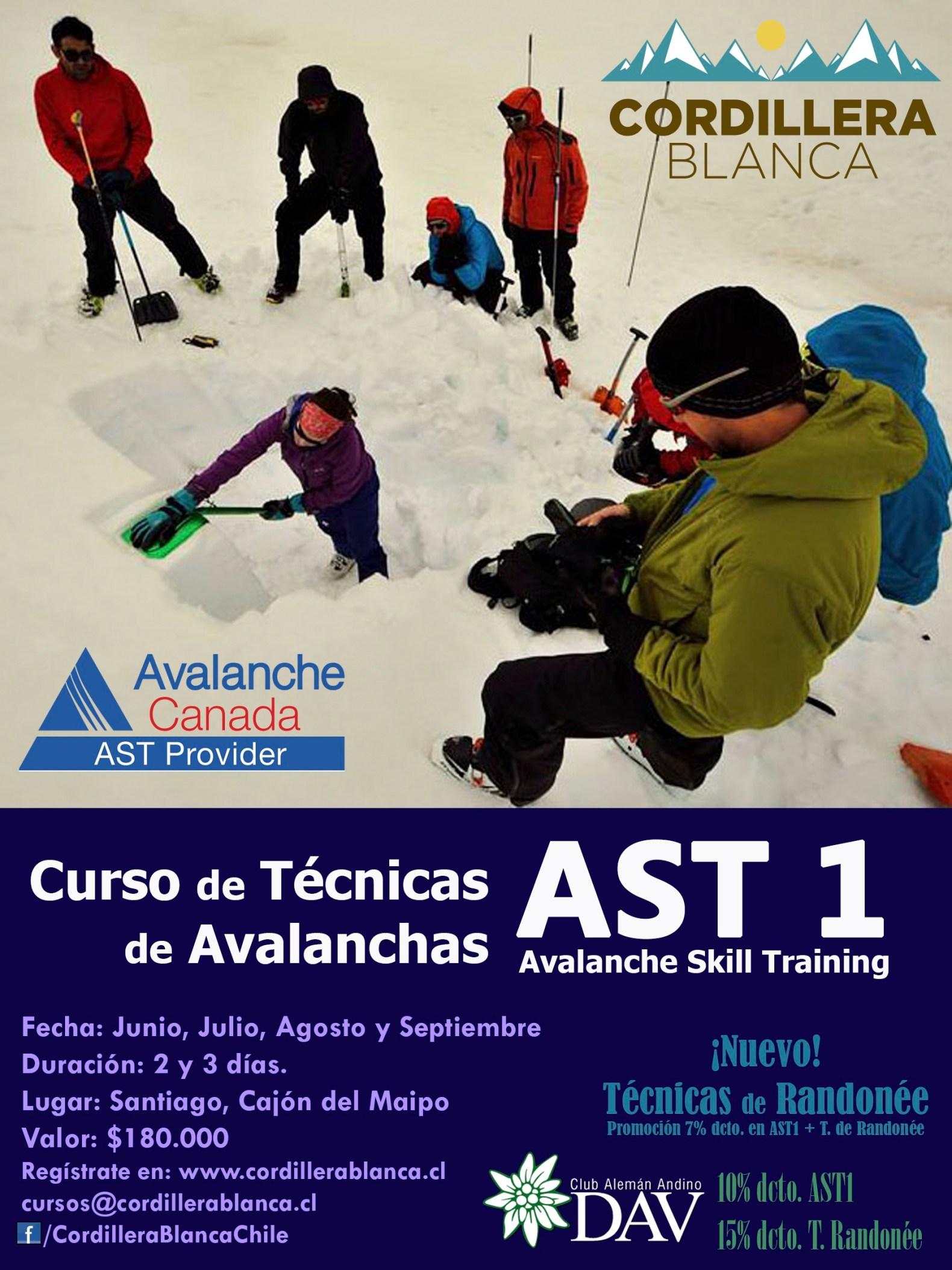 Curso de Técnicas de Avalanchas AST1