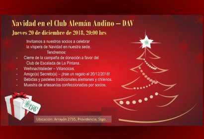 Celebración de Navidad – Jueves 20 de Diciembre